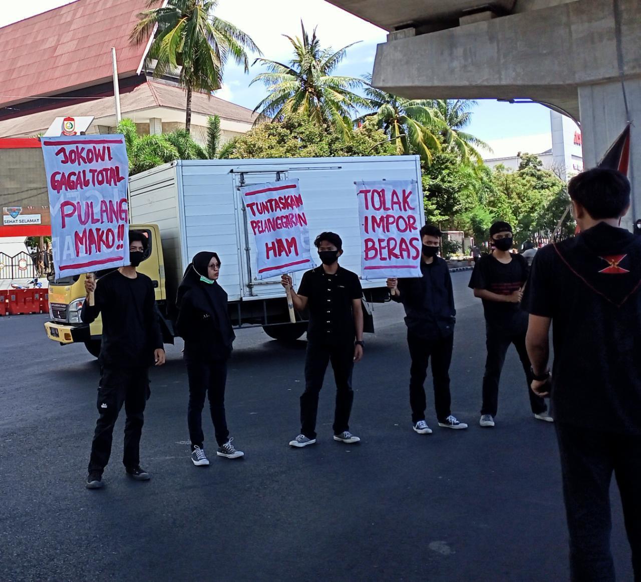 Kedatangan Presiden Joko Widodo di Sulsel disambut Aksi Unjuk Rasa GAM, Ini yang disampaikan