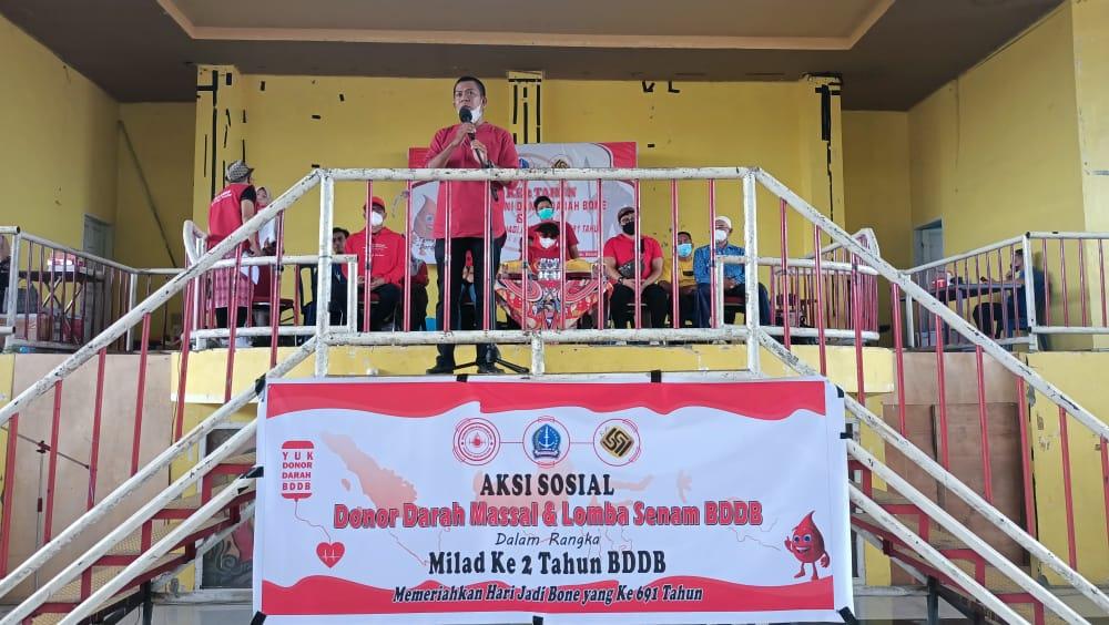 Rangkaian Milad Ke 2, BDDB Adakan kegiatan aksi sosial donor darah dan lomba senam berani donor darah