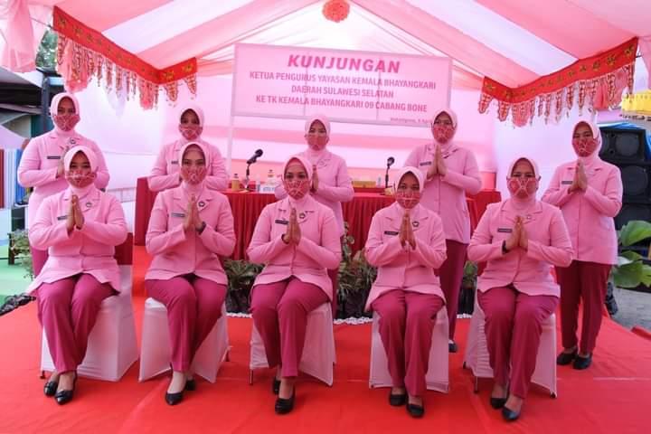 Pengurus Bhayangkari Daerah Sulawesi Selatan Kunjungan Kerja ke Pengurus Bhayangkari Cabang Bone