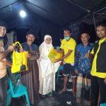 Arip Supporting Serahkan Bantuan Sembako Kepada Korna Kebakaran di Kelurahan Pallette