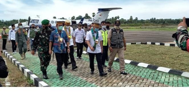 Dirjen Perhubungan Udara Kementerian Perhubungan RI Tinjau Pegembangan Bandar Udara Arung Palakka