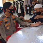 Sambut HUT Bhayangkara ke-75, Polres Bone Menggelar Baksos Donor Darah