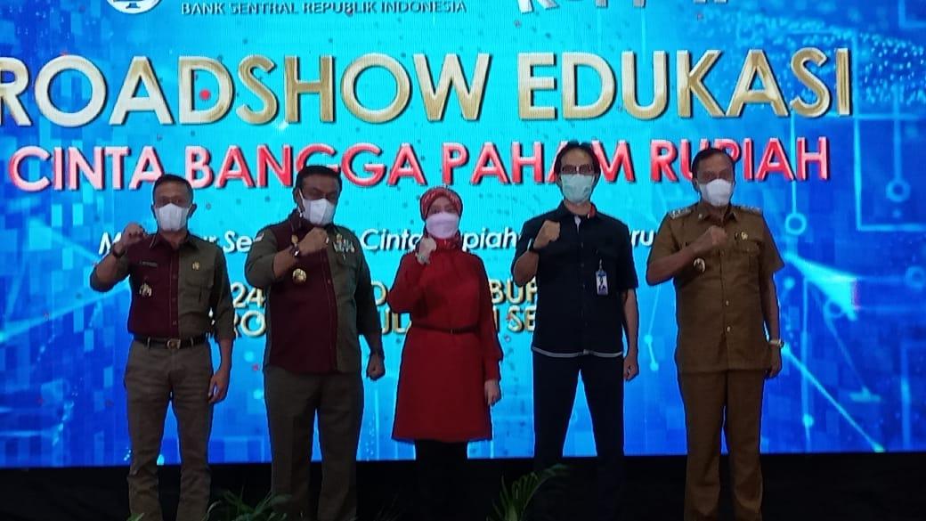 BI Sulsel bersama Pemda Bone Lakukan Road Show Edukasi cinta bangga paham rupiah