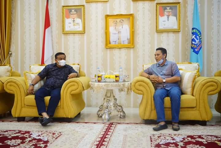 Bahas Rencana MUSKAB, Ketua Kadin Provinsi Sulsel Silaturahmi dengan Bupati Bone