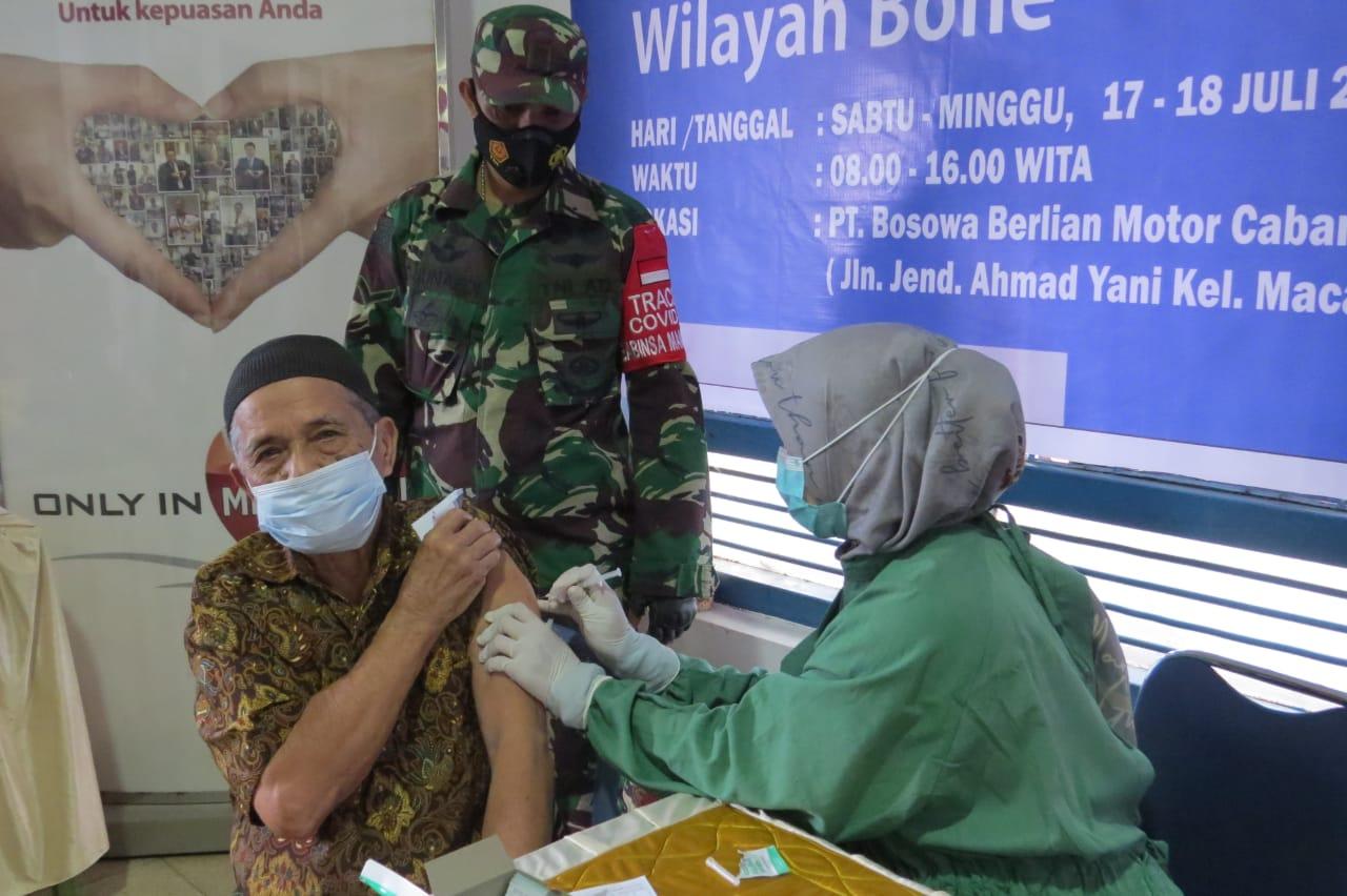 Peserta Vaksinasi Melebihi Target,Dandim 1407 Bone dan Branch Manager PT Bosowa Berlian Motor Ucapkan Terima Kasih