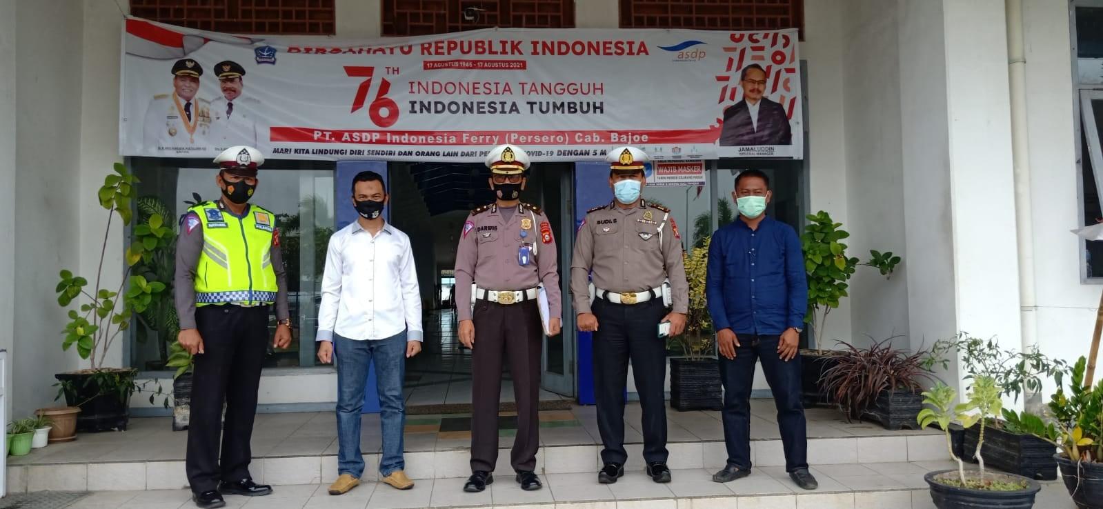 Tim Supervisi Subdit Kamsel Dit Lantas Polda Sulsel lakukan survey di lokasi ASDP Pelabuhan Bajoe dan sejumlah lokasi lainnya