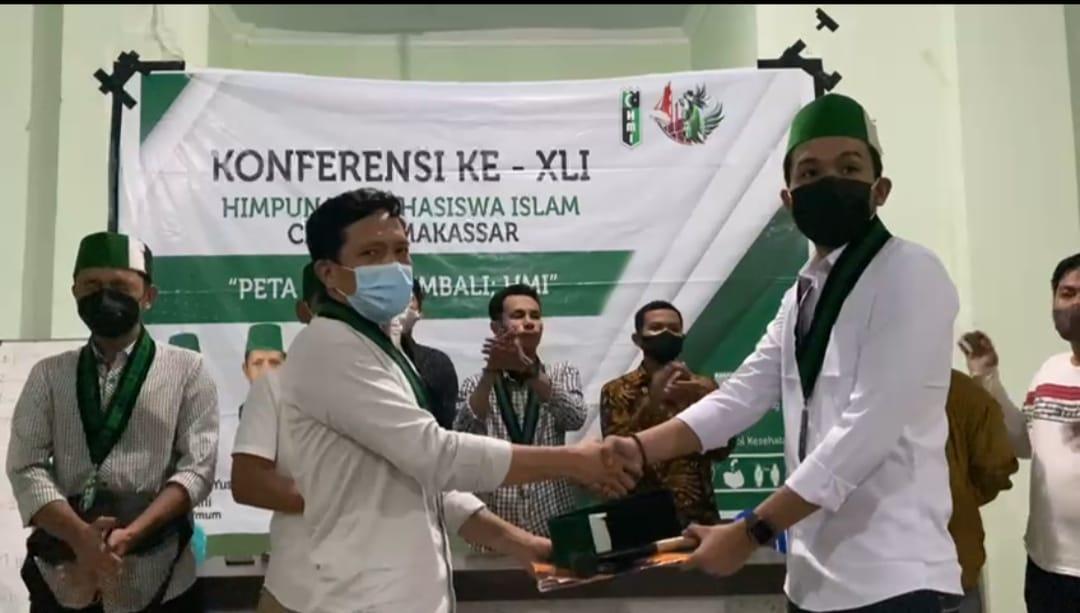 Terpilih sebagai Ketua Umum HMI Cab Makassar, Andi Muh Muslih Rijal Marisaling menjaga dan bersama membesarkan organisasi