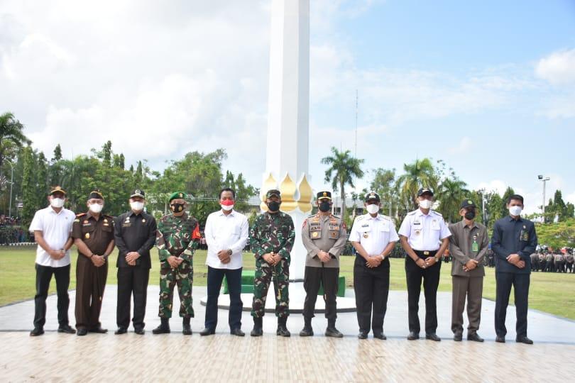 Pangdam XIV Hasanuddin Pimpin Apel Gelar Pasukan Pengamanan VVIP Kunker Presiden RI di Wajo