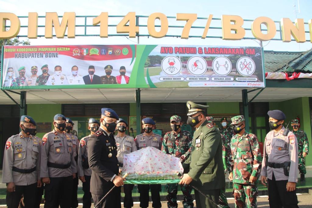 Dapatkan Surprise di HUT TNI ke-76, Dandim 1407 Bone Ucapkan Terimakasih Kepada Danyon C Pelopor